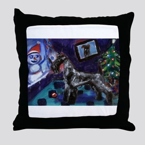 KERRY BLUE xmas Throw Pillow